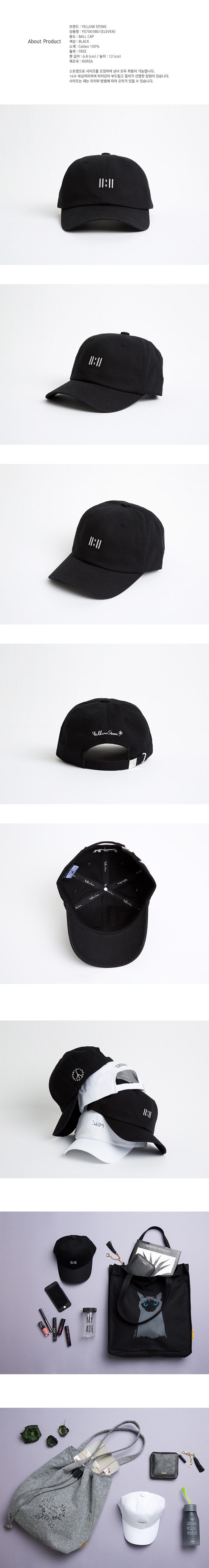 [옐로우스톤] 볼캡 BALL CAP ELEVEN - YS7003BO /BLACK